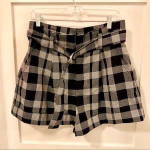 GAP Plaid Casual Belted Shorts